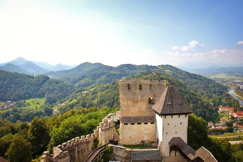 View over Celje Castle in Celje, Slovenia
