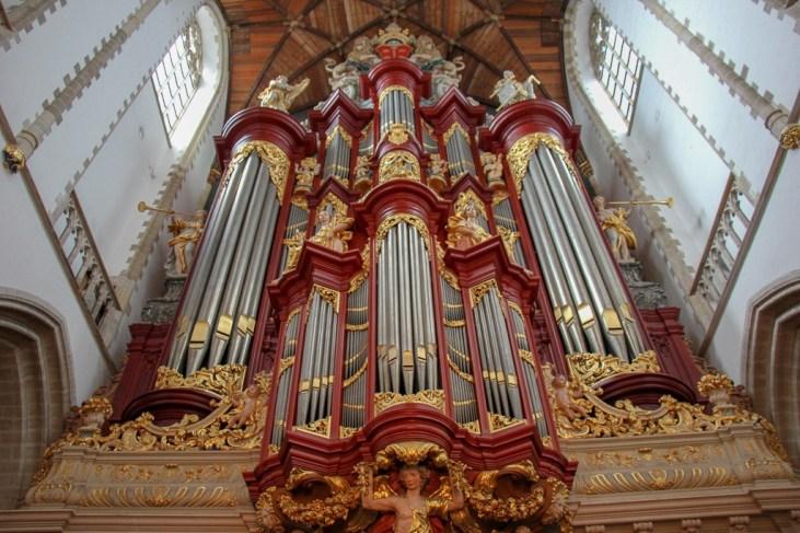 Haarlem Organ at Grote of St. Bavokerk in Haarlem, Netherlands