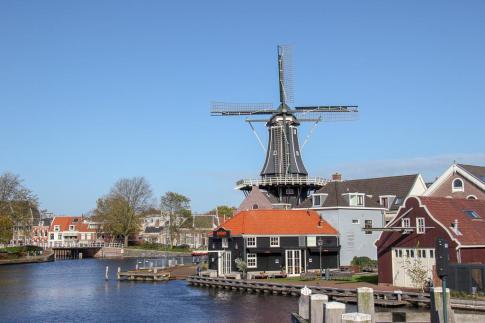 Haarlem Windmill, Molen de Adriaan, in Haarlem, Netherlands