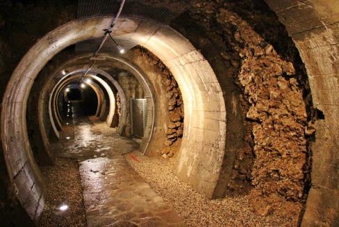 Man-made tunnels in Kranj, Slovenia