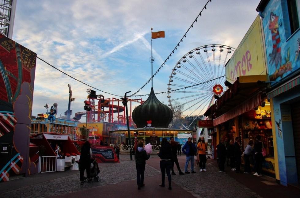 Wurstelprater Amusement Park at Prater in Vienna, Austria