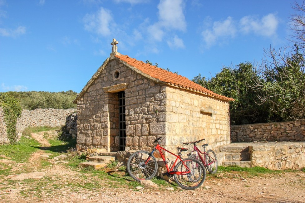 Stone chapel on Stari Grad Plain in Stari Grad on Hvar Island, Croatia