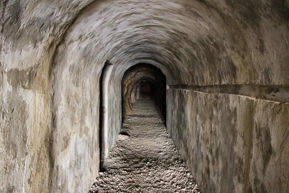 Entrance into Tito's Cave in Stari Grad on Hvar Island, Croatia