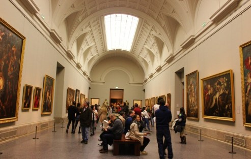 Inside the Prado Museum in Madrid, Spain