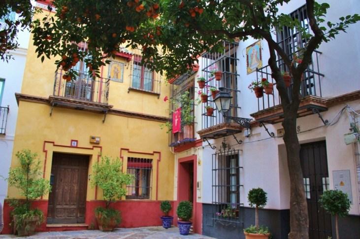 Barrio Santa Cruz neighborhood in Seville, Spain
