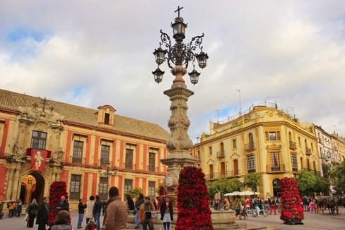 Plaza de la Virgen de los Reyes in Central Seville, Spain