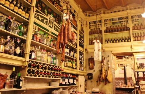 Bar at El Rinconcillo Tapa restaurant in Seville, Spain