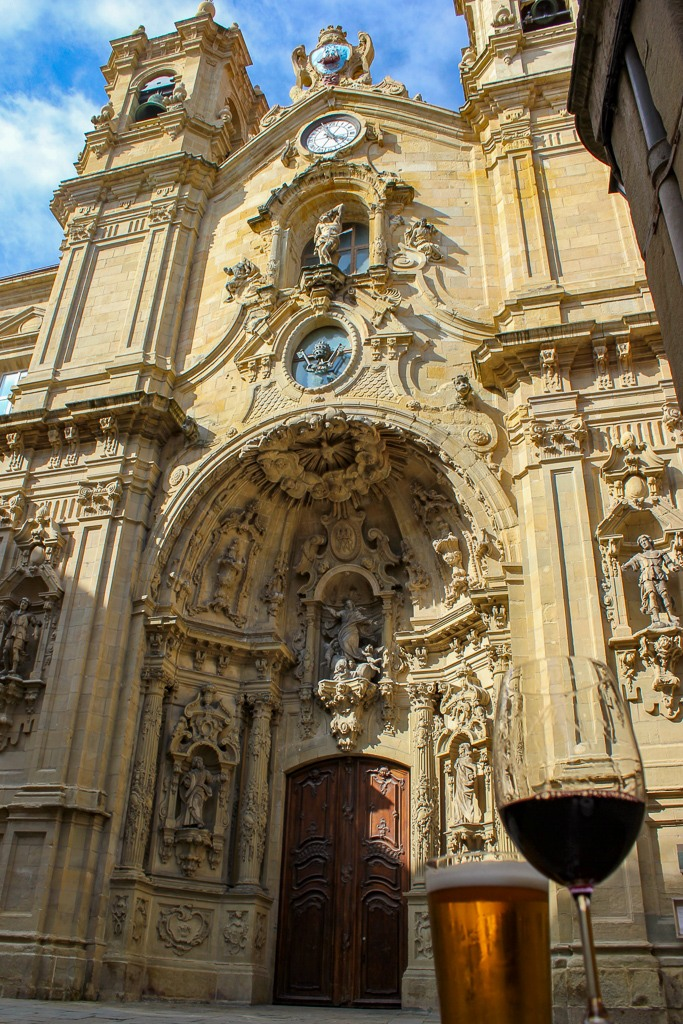 Basilica of St. Mary Catholic Church in San Sebastian, Spain