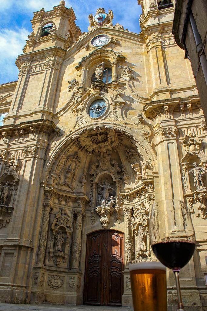 Basilica of St. Mary Catholic Church in San Sebastian, Spain