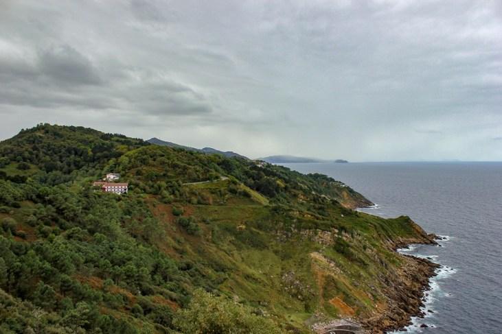 Basque coastline in San Sebastian, Spain