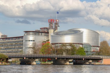 European Court of Human Rights building in Strasbourg, France