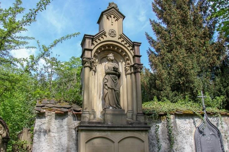 Old Gravestone in Alter Friedhof cemetery in Freiburg, Germany
