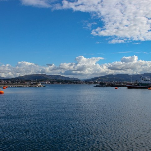 Hondarribia Bay in Basque Country, Spain