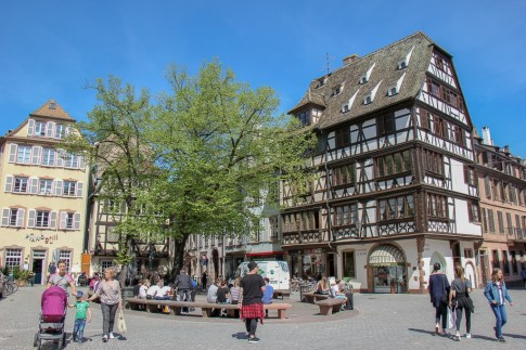 Place Saint-Etienne square in Old Town Strasbourg, France