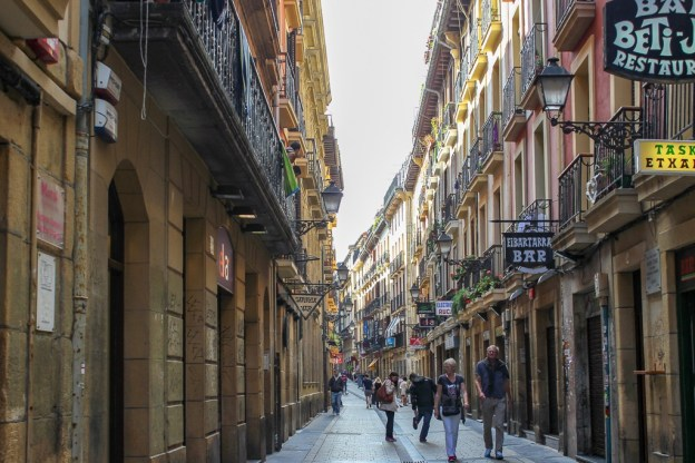 Old Town San Sebastian in Basque Country, Spain