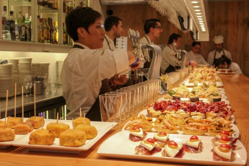 Platters of San Sebastian Pintxos in Basque Country, Spain