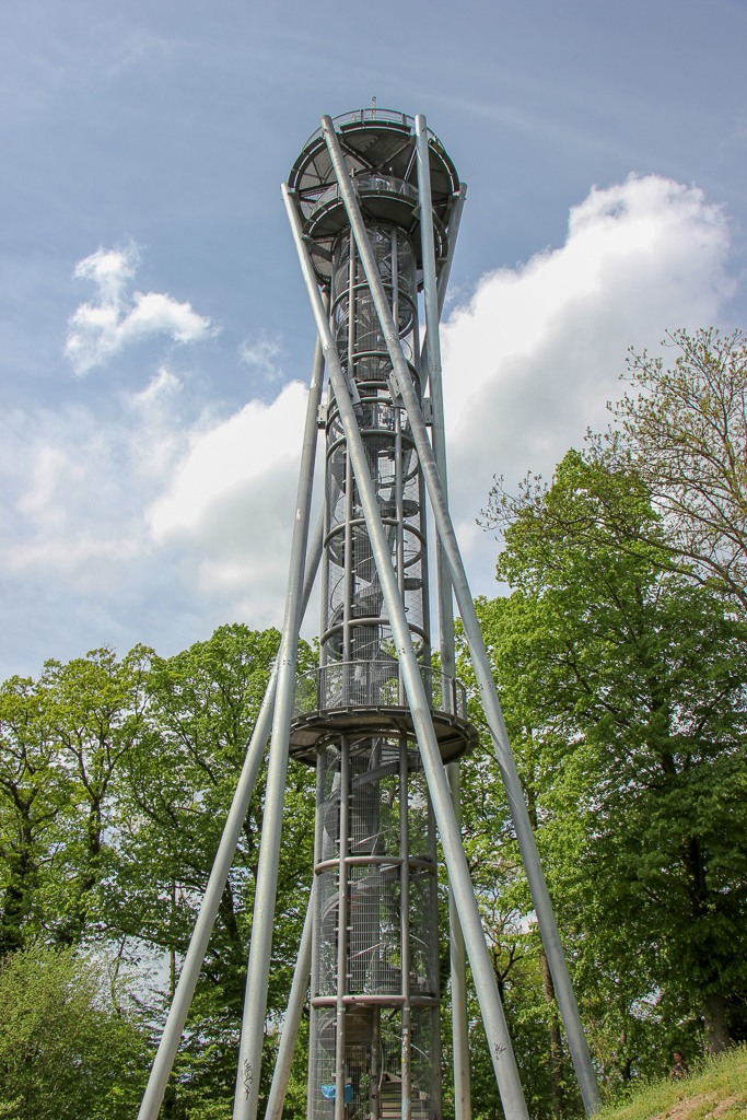 New Observation Tower, Schlossbergturm, in Black Forest Freiburg, Germany