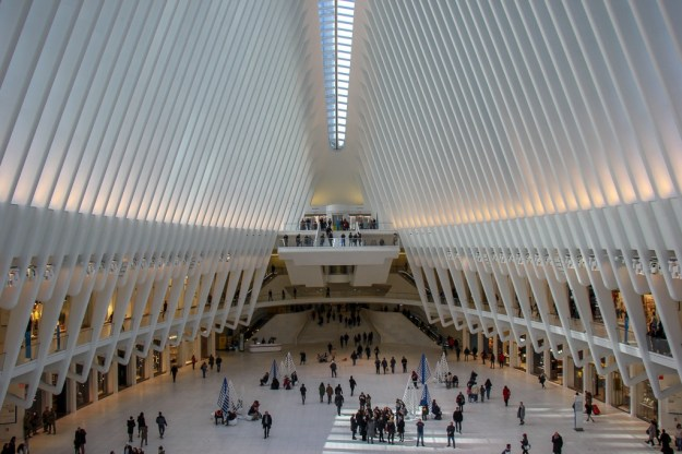 The Oculus Train Station and Mall in New York City, New York