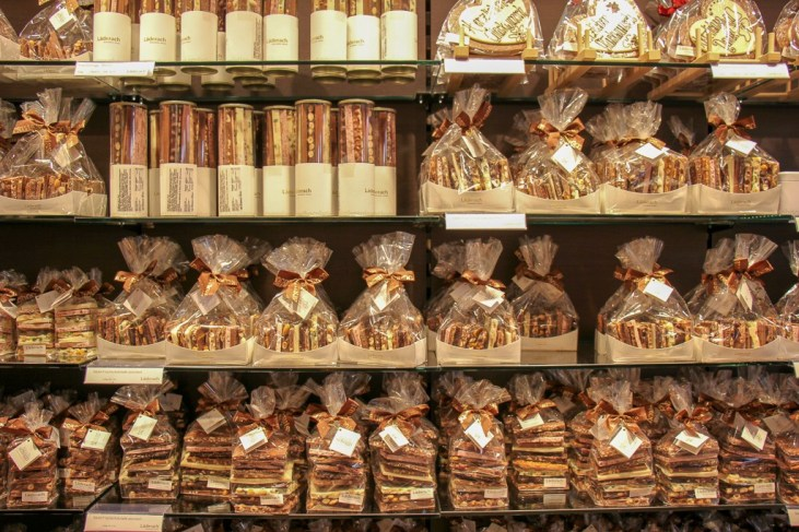 Chocolates for sale in Basel, Switzerland