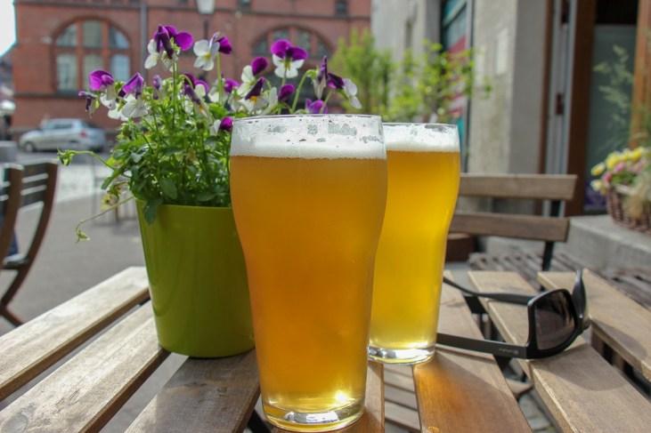 Craft beer at Cafe Lamus in Gdansk, Poland