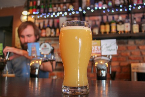 Craft beer at Labeerynt Multitap bar in Gdansk, Poland
