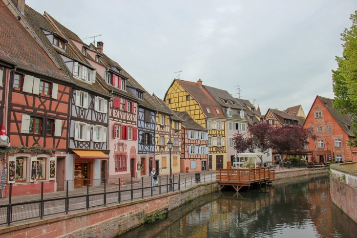 Pastel Painted houses in Fishmonger's District in Colmar, France
