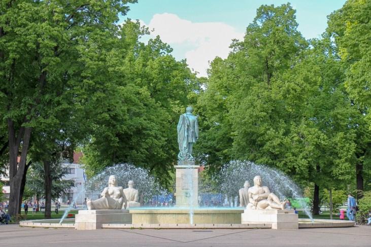 Bruat Fountain at Parc du Champ de Mars in Colmar, France