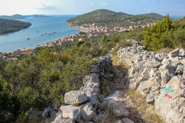 View of the town, Hiking, Kaprije, Croatia