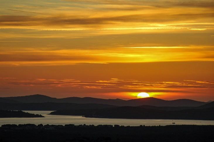 Sunset from St. John's Fort, Sibenik, Croatia