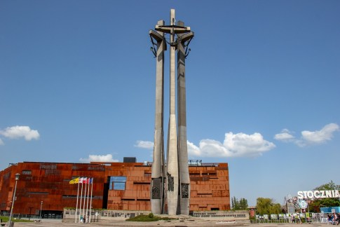 Monument to the Fallen Shipyard Workers of 1970 at the European Solidarity Center in Gdansk, Poland