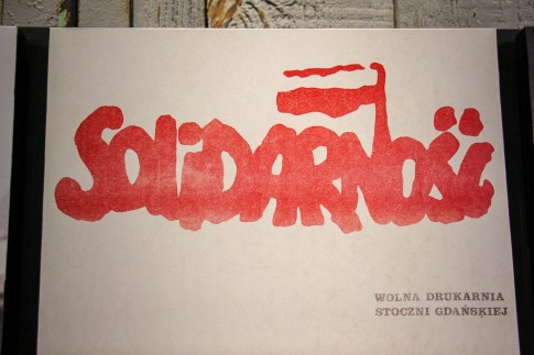 Solidarnosc logo for the Solidarity Movement in Poland