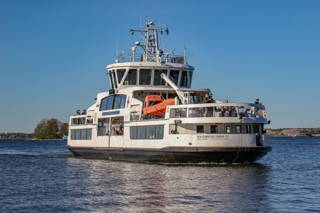 A Suomenlinna Ferry sailing to the mainland in Helsinki, Finland