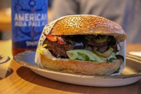 Hamburger from SurfBurger in Sopot, Poland