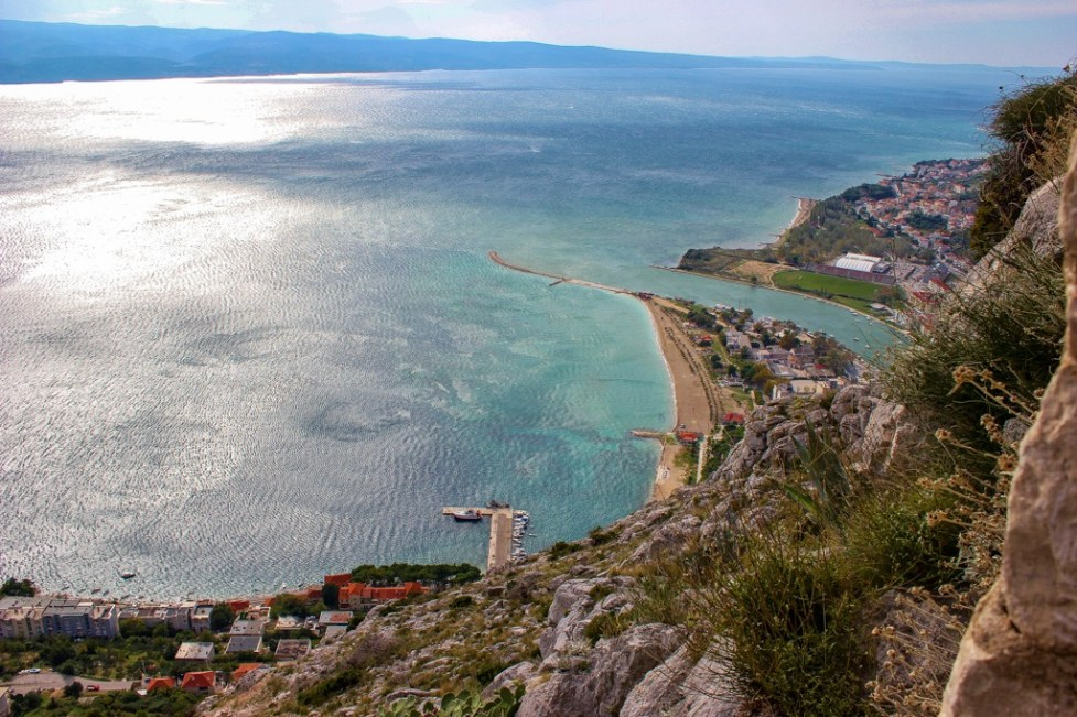 Stunning coastal views from the fortress, Omis, Croatia