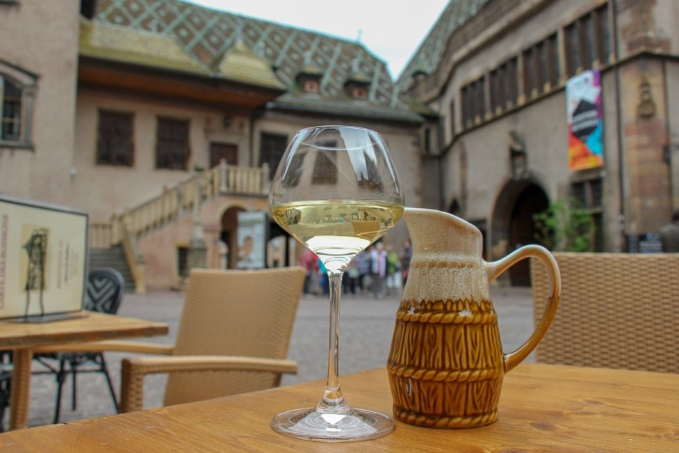 Pichet of Alsace White Wine in Colmar, France