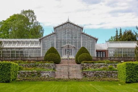 Glass greenhouse, Winter Garden, in Helsinki, Finland