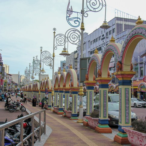 Colorful arches in Little India Brickfields Kuala Lumpur, Malaysia