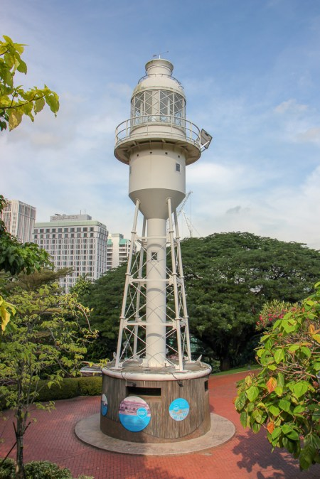 Historic lighthouse at Fort Canning Park in downtown Singapore