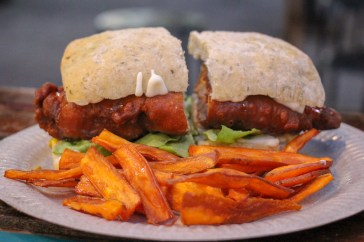 Fried Chicken Sandwich from Food Truck at Tapak Urban Street Dining in Kuala Lumpur, Malaysia