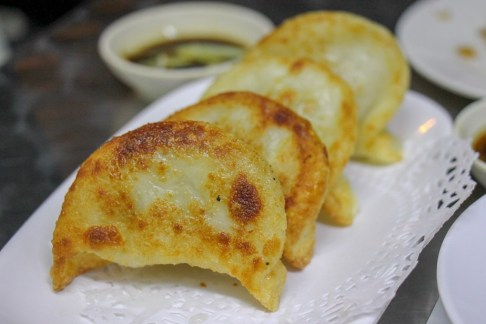 Crispy fried dumplings at Swee Choon Dim Sum in Singapore