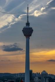 KL Tower at sunset in Kuala Lumpur, Malaysia