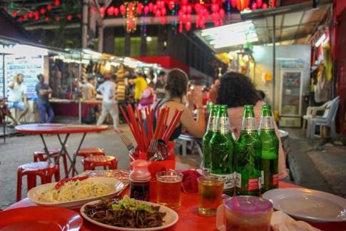 Dining al fresco at Kim Lian Kee Restaurant in Kuala Lumpur, Malaysia