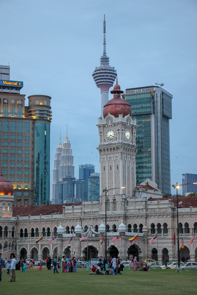 Merdeka Square city views in Kuala Lumpur, Malaysia