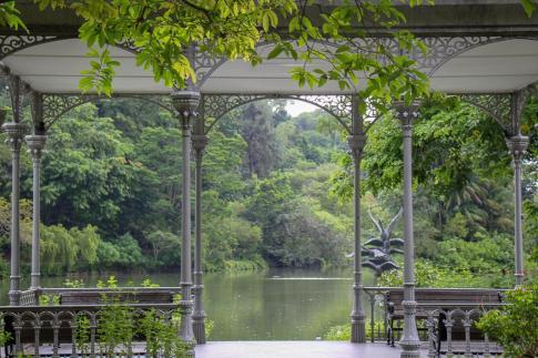 Decorative gazebo at Botanical Gardens in Singapore