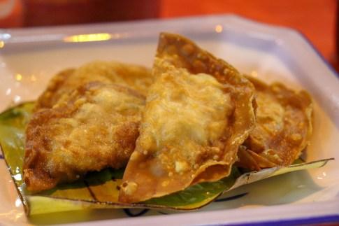 Fried wontons at Kim Lian Kee in Chinatown in Kuala Lumpur, Malaysia
