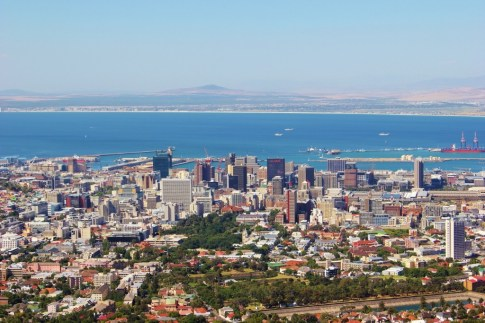 City views from Table Mountain in Cape Town, South Africa