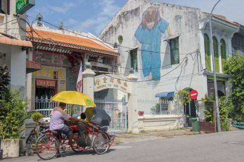 Kung Fu Girl street art mural in Geroge Town, Penang, Malaysia