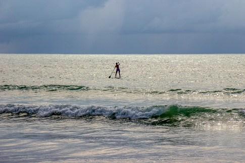 Woman on Stand Up Paddle Board at Kamala Beach on Phuket, Thailand