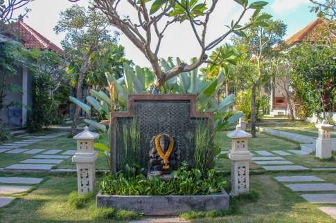 D'Padang Homestay entrance in Uluwatu, Bali, Indonesia