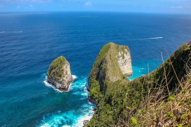 T-Rex land formation at Kelingking Beach, Nusa Penida, Bali, Indonesia